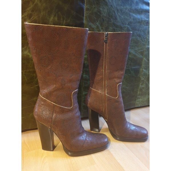 Prada Boots Stiefel 38 Cognac Leder neu