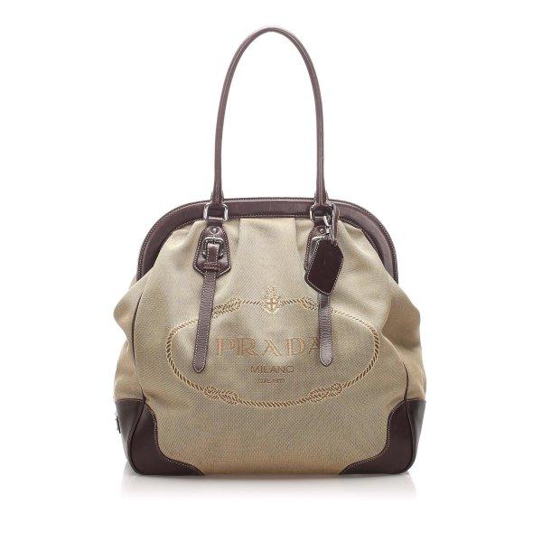 Prada Canapa Frame Shoulder Bag