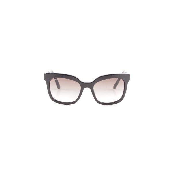 Prada eckige Sonnenbrille schwarz Elegant