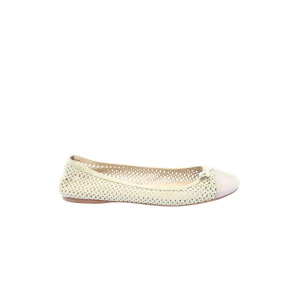 Prada faltbare Ballerinas weiß-lila Casual-Look