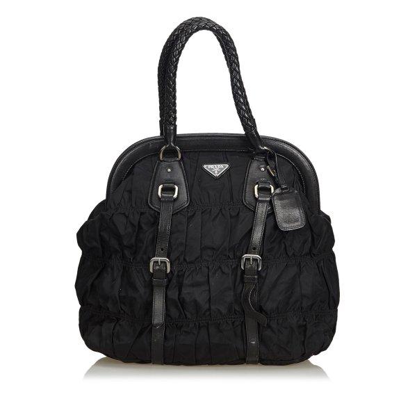 Prada Gathered Nylon Handbag