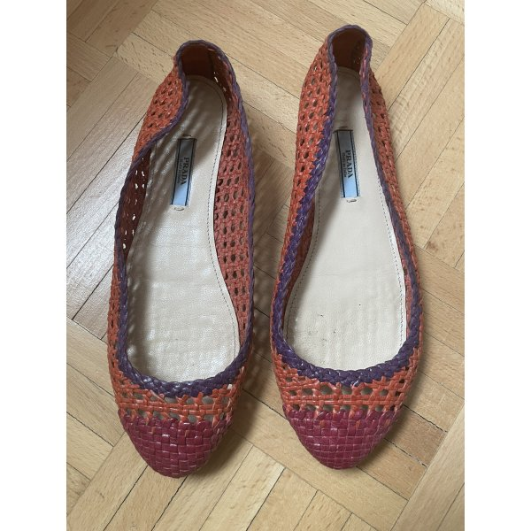 Prada  geflochtene Ballerina Schuhe Made in geflochtene