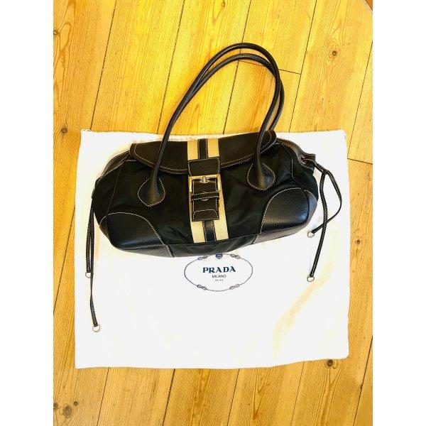 Prada Handtasche Leder mit Nylon , stylisch