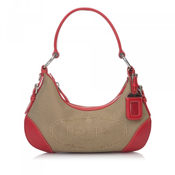 Prada Jacquard Shoulder Bag