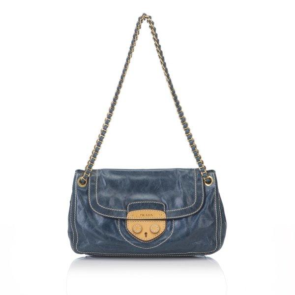 Prada Leather Pattina Shoulder Bag