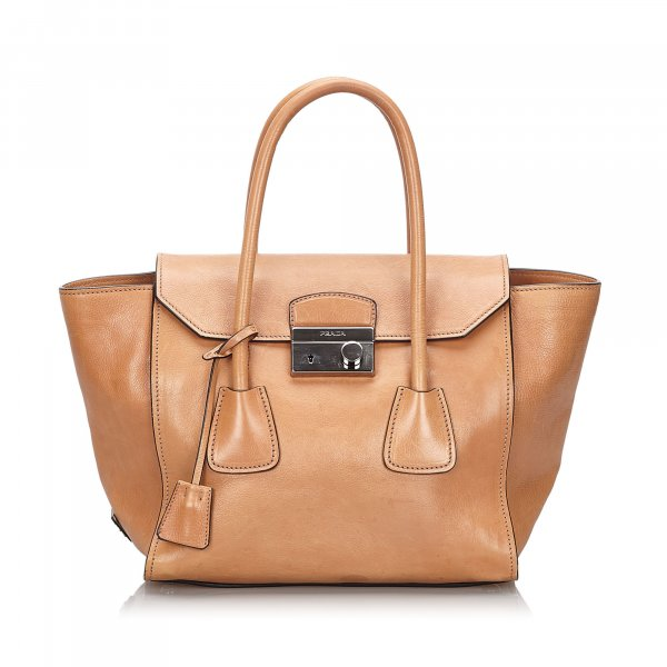Prada Leather Sound Lock Handbag