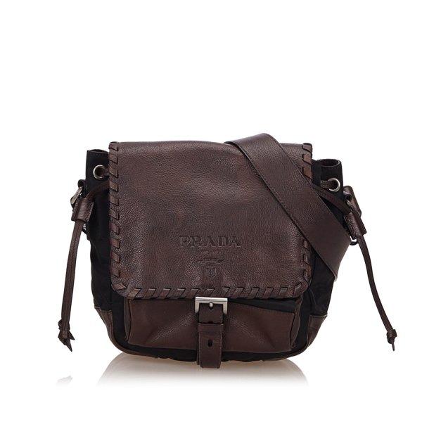 Prada Nylon Flap Crossbody Bag