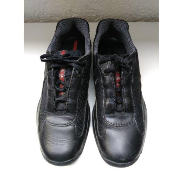 PRADA Punta Ala Leder Sneakers 39 Vibram Sport Outdoor Schwarz