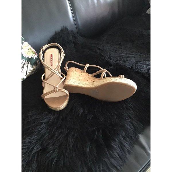 Prada Sandale nude Größe 40