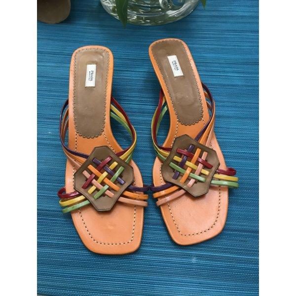 Prada Sandalen 41 Pumps  Schuhe Orange Bunt