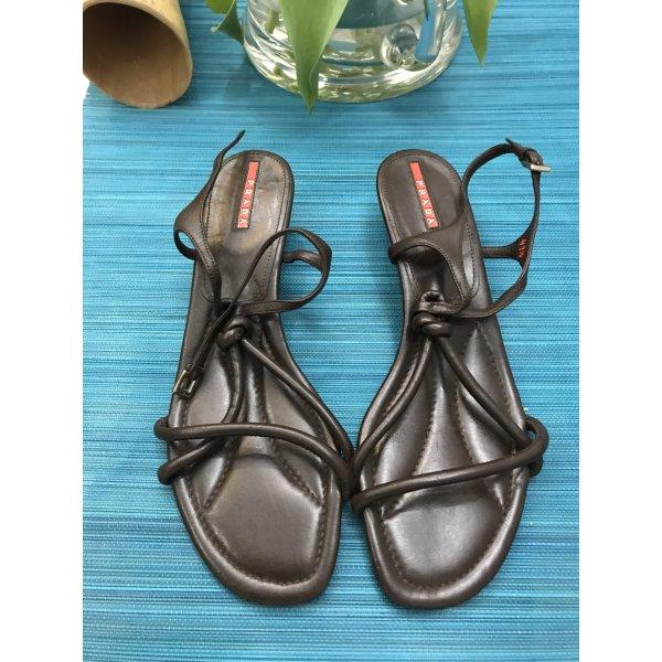 Prada Sandalen braun 41 1/2 Schuhe