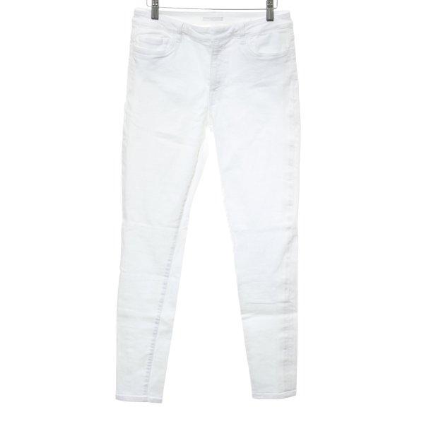 Prada Skinny Jeans weiß Webmuster Casual-Look