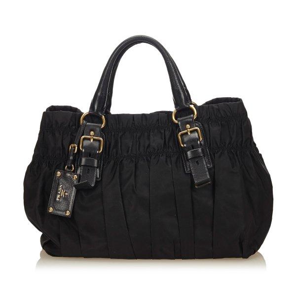 Prada Tessuto Gathered Nylon Handbag
