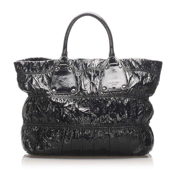 Prada Vernice Gaufre Shoulder Bag