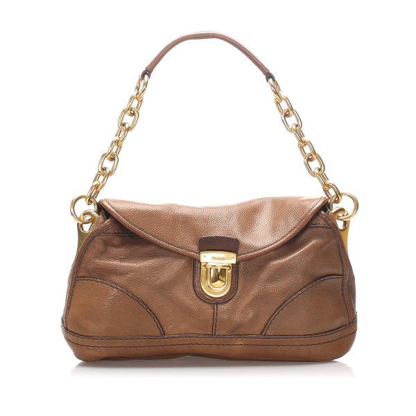 Prada Vitello Daino Leather Shoulder Bag