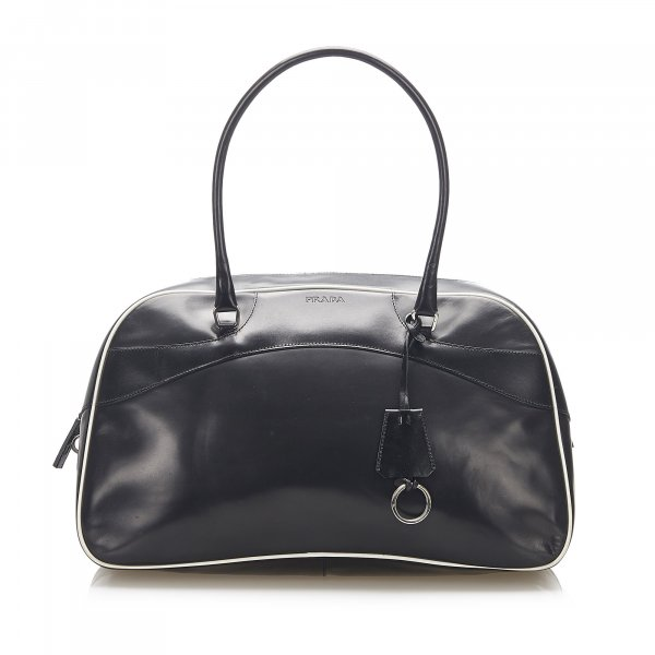 Prada Vitello Drive Bowler Shoulder Bag