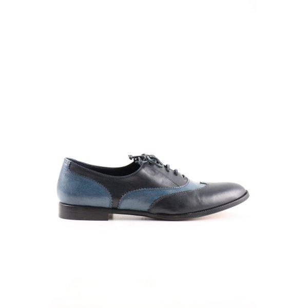 Prego Cap Toes blau-schwarz Business-Look