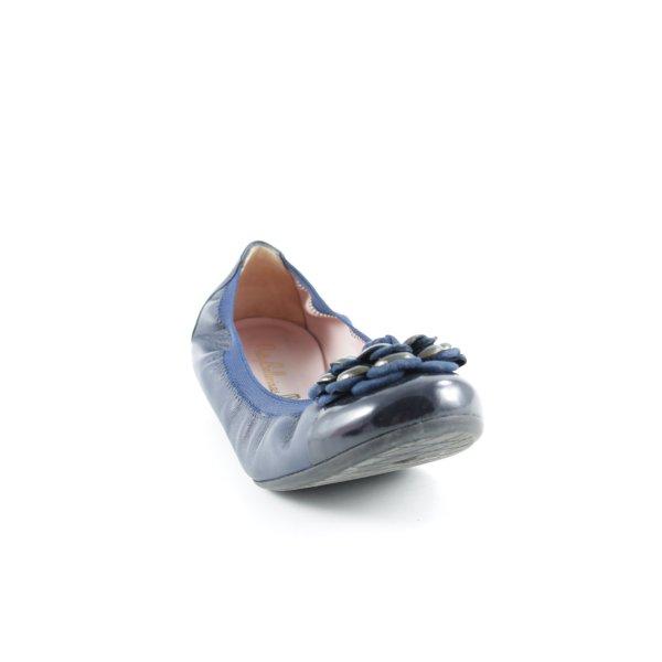 Pretty ballerinas Babouche noir-bleu élégant