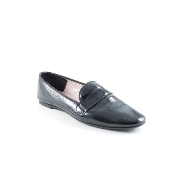 Pretty ballerinas Babouche noir style d'affaires