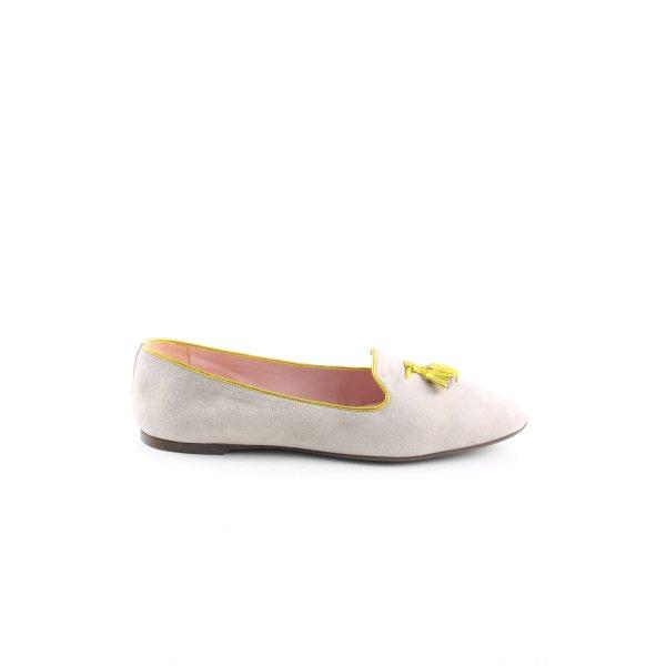 Pretty Loafers Slipper hellgrau-blassgelb Casual-Look
