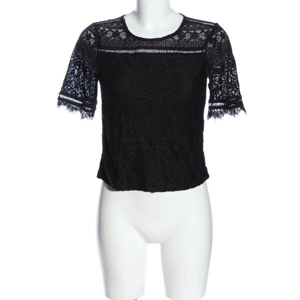 Primark Spitzenbluse schwarz Casual-Look