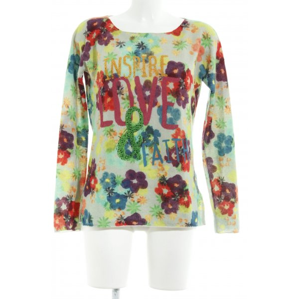 Princess goes Hollywood Wollpullover florales Muster extravaganter Stil