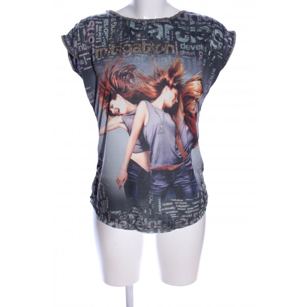 Print-Shirt Motivdruck Casual-Look