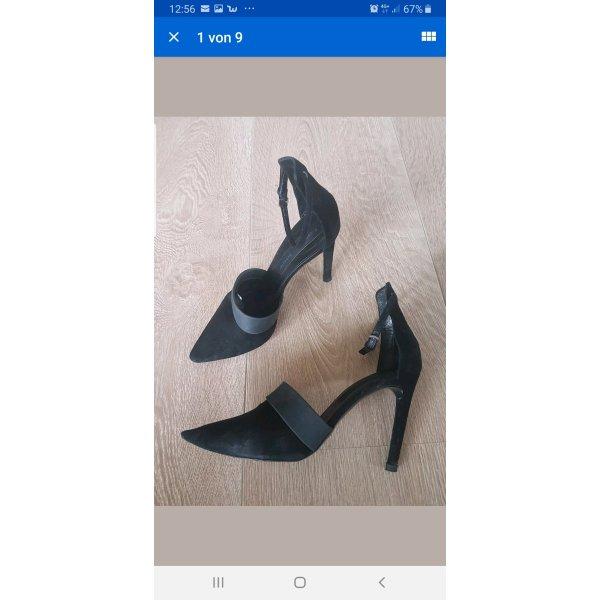 PROENZA SCHOULER high heels pumps schwarz gr.38 wildleder
