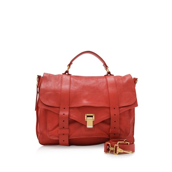 Proenza Schouler Lambskin Leather PS1 Large Satchel