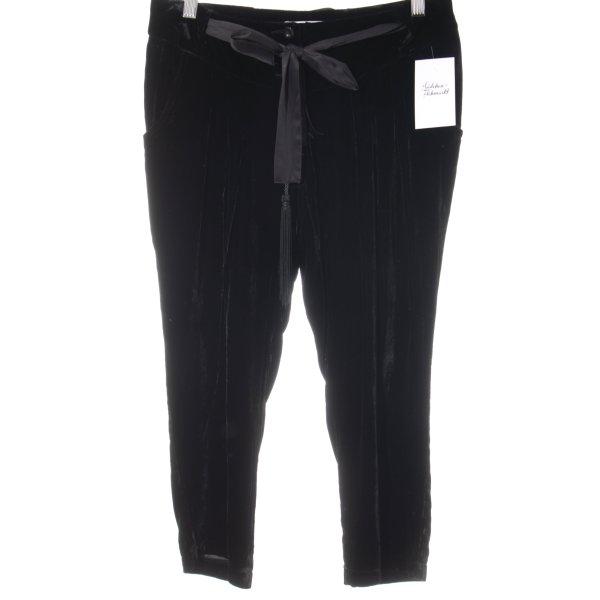 Promod Pantalón abombado negro estilo fiesta