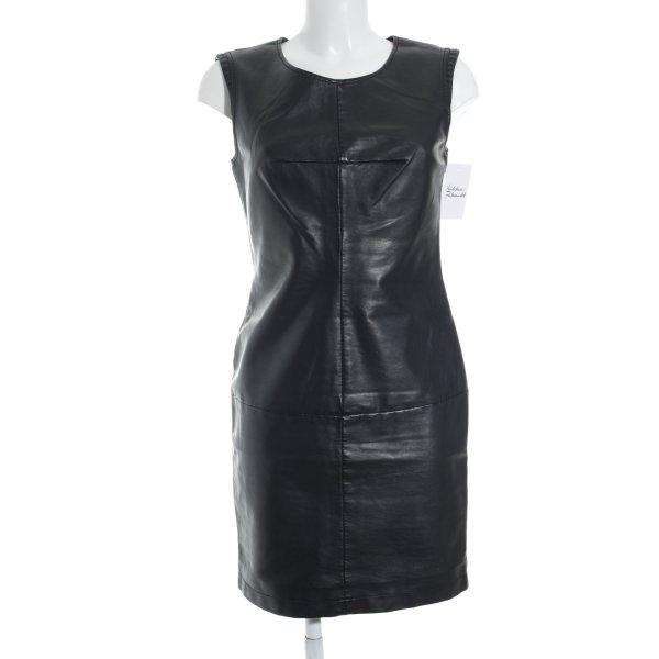 Promod Lederkleid schwarz Elegant