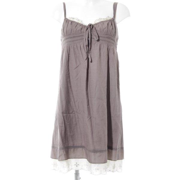 Promod Trägerkleid graubraun-creme Romantik-Look