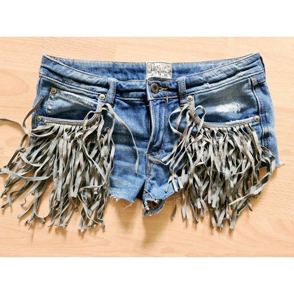 PTPS handcrafted jeans fransen shorts Hotpants boho ibiza Hippie