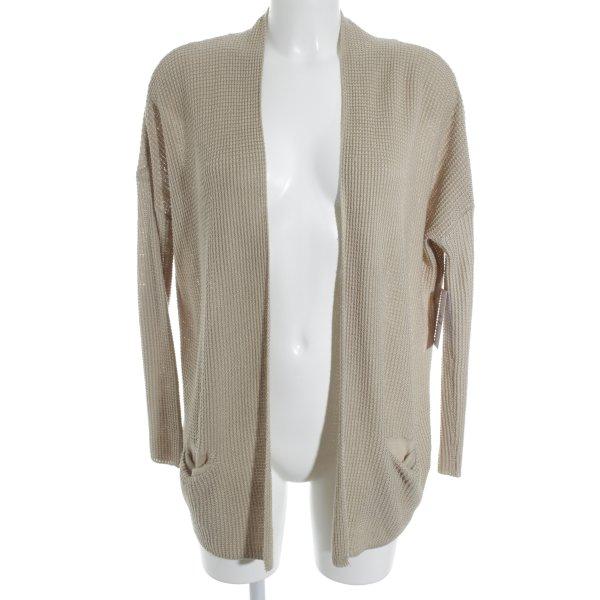 Pull & Bear Strick Cardigan beige Casual-Look