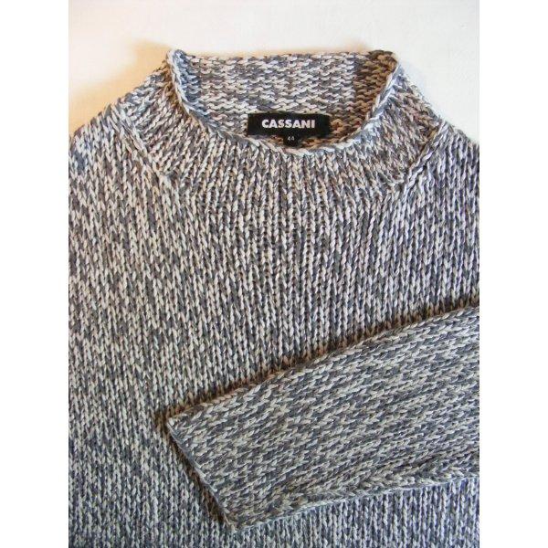 Pullover in grau/weiß von Cassani