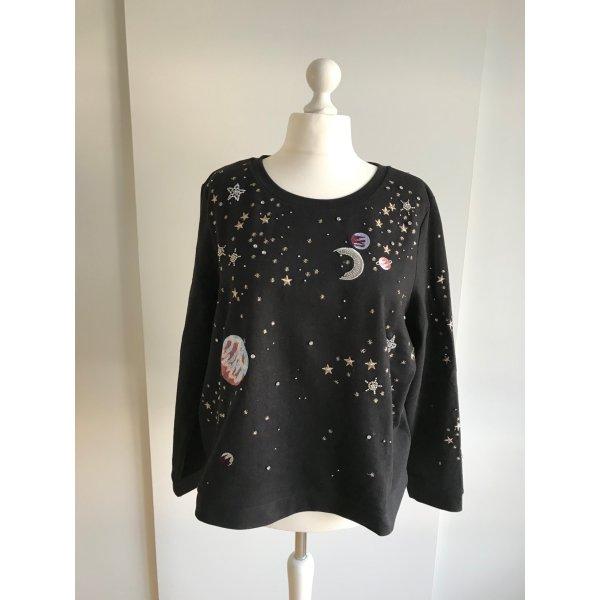 Pullover mit Stickereien und Perlen Verzierungen