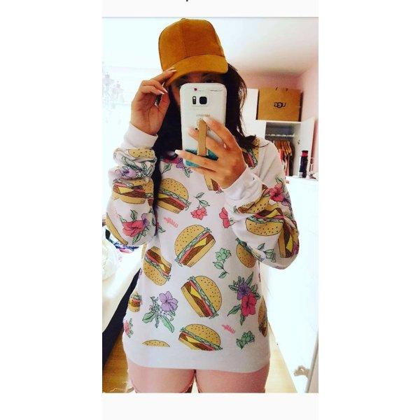 Pullover S Wildfox orig Etikett Burger nude rosa blogger hipster Fries
