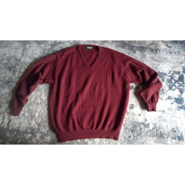 Pullover von Benetton weinrot Gr. XL wie neu reine Schurwolle