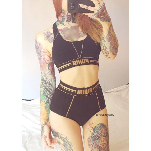 PUMA Sport Outfit Set Shorts Gym Bustier Hotpants Fitness sexy Highwaist