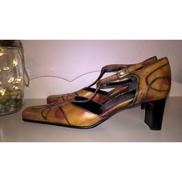 Belmondo Zapatos de tacón con barra en T multicolor Cuero