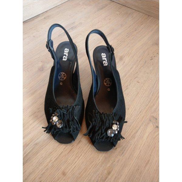 Pumps Sandalen Schuhe schwarz Ara