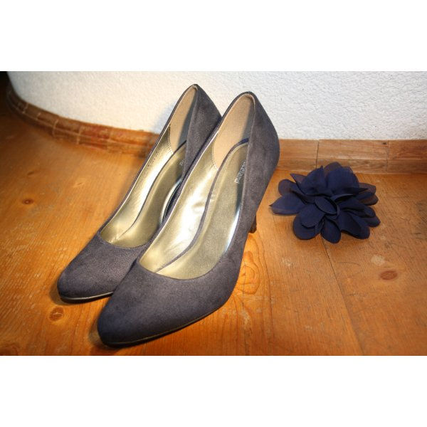 Pumps Wildlederimitat blau