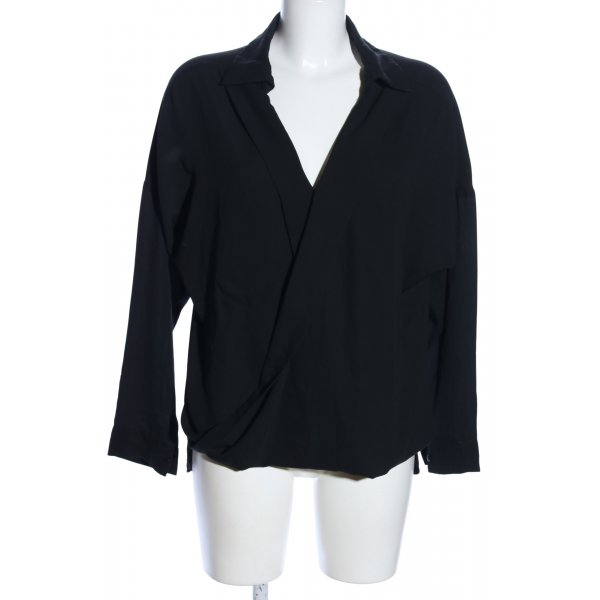 Pure Day Oversized Bluse schwarz Business-Look