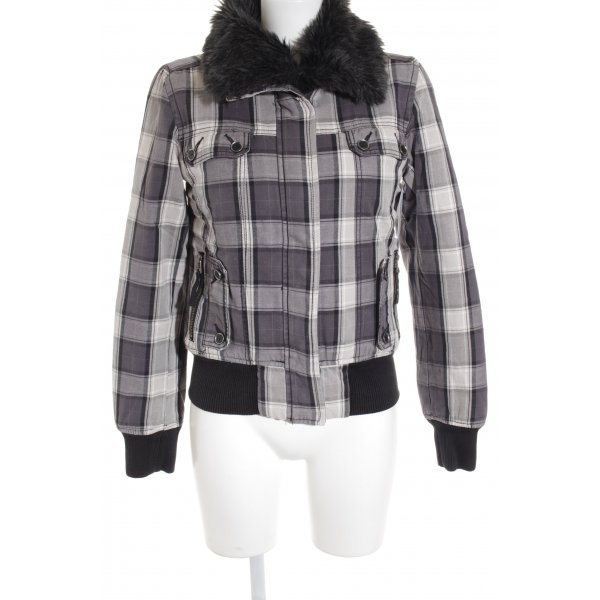 QS by s.Oliver Winterjacke Karomuster Casual-Look