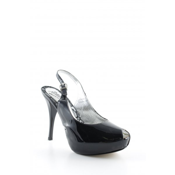 Ragazzo Slingback-Pumps schwarz-silberfarben Elegant