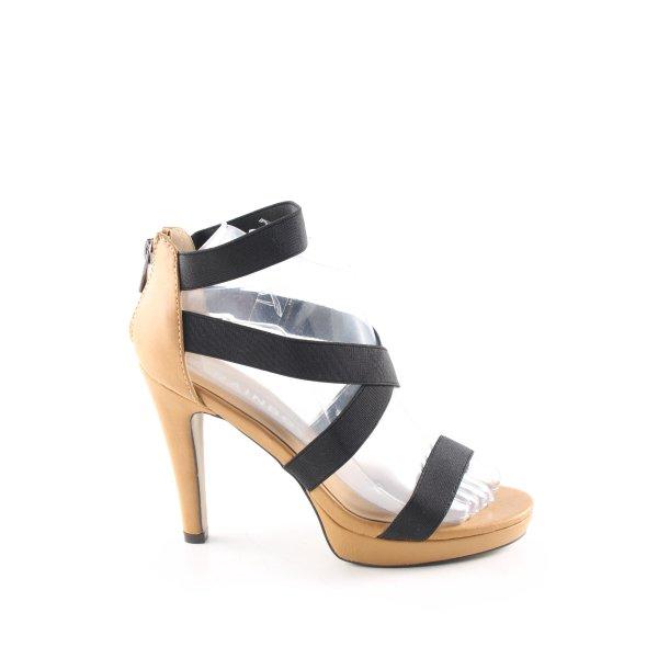 Rainbow High Heel Sandaletten schwarz-creme Casual-Look