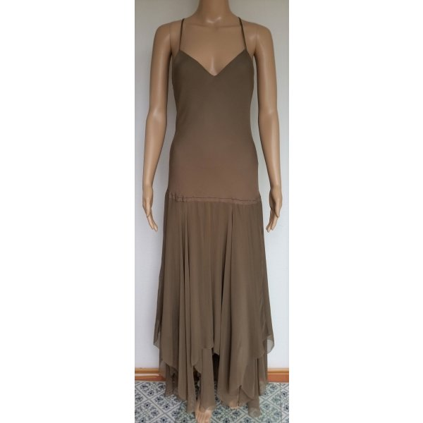 Ralph Lauren Blue Label, Kleid, Seide, taupe, 38 (US 8), neu, € 850, -