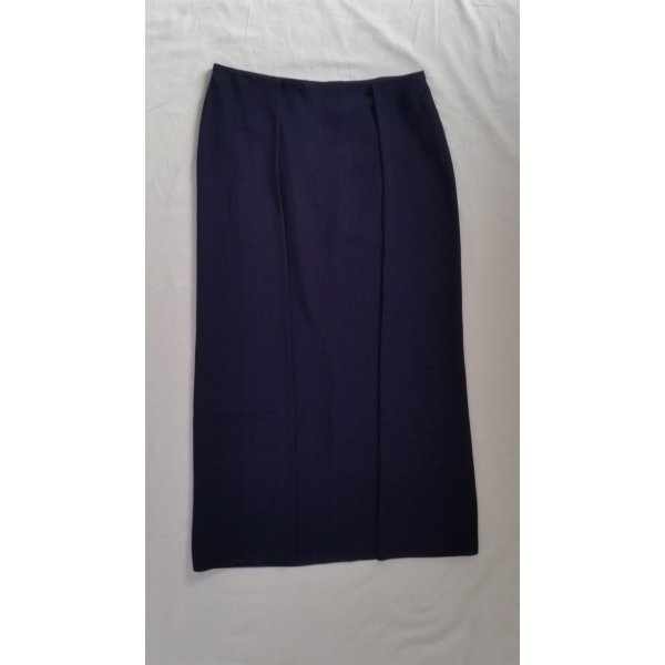 Ralph Lauren Collection, Addison Double-Slit Skirt, navy, 34 (US 4), Viskose/Acetat, neu, € 1.650,-