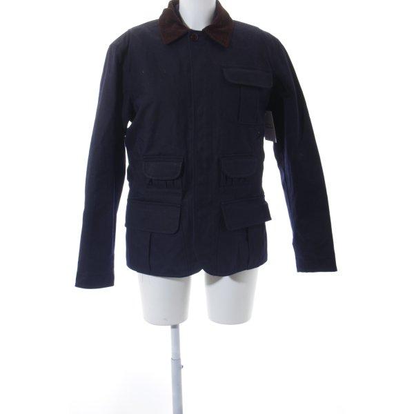 Ralph Lauren Veste double bleu foncé-brun style classique