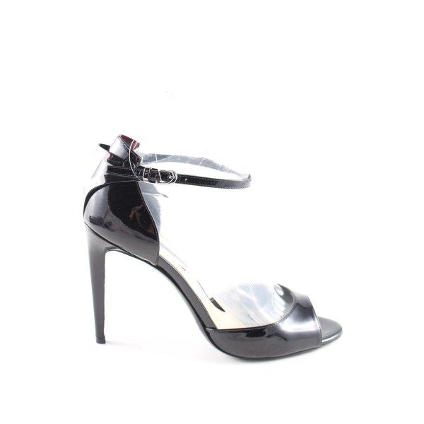 Ralph Lauren High Heel Sandaletten schwarz Elegant